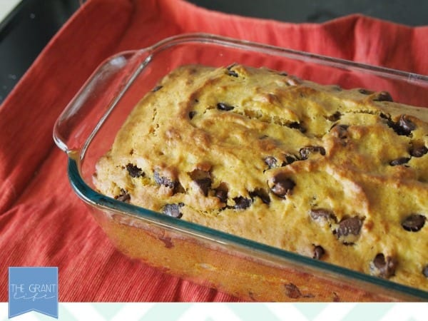 Pumpkin Chocolate Chip Banana Bread - healthier yet oh so tasty!