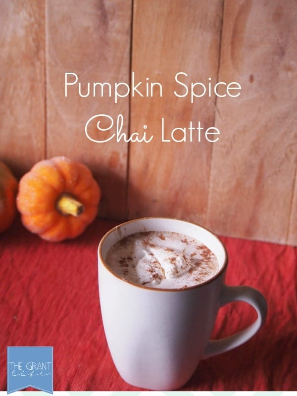 Pumpkin spice chai latte.  Perfect way to start fall!
