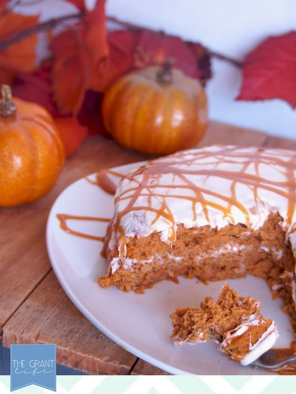 easy homemade recipe - pumpkin carame cake