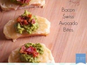 Bacon swiss avocado bites