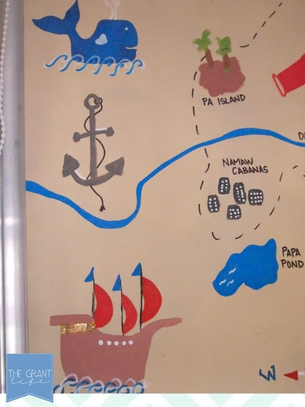 Close up of the treasure map