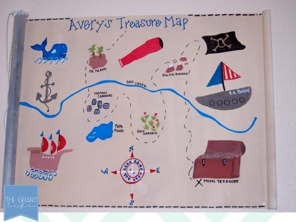 DIY Treasure Map - Made from a blind!