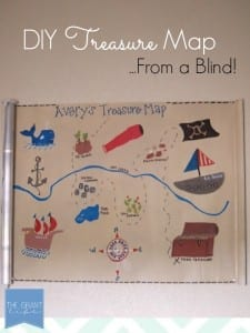 DIY Treasure Map - Made from a mini blind!