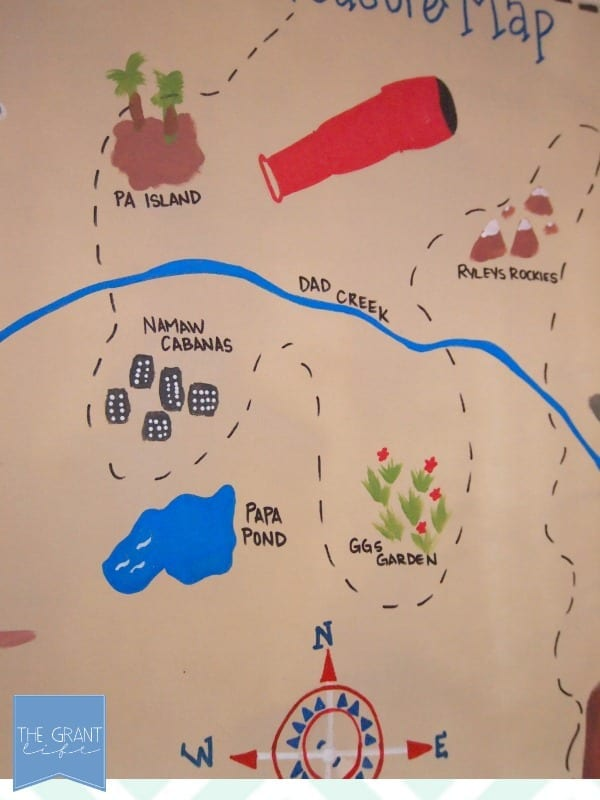 Details of the treasure map