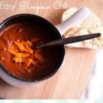 Easy Pumpkin Chili Recipe via thegrantlife.com