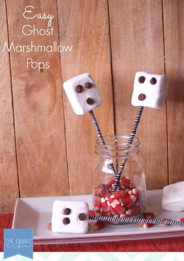 Easy ghost marshmallow pops