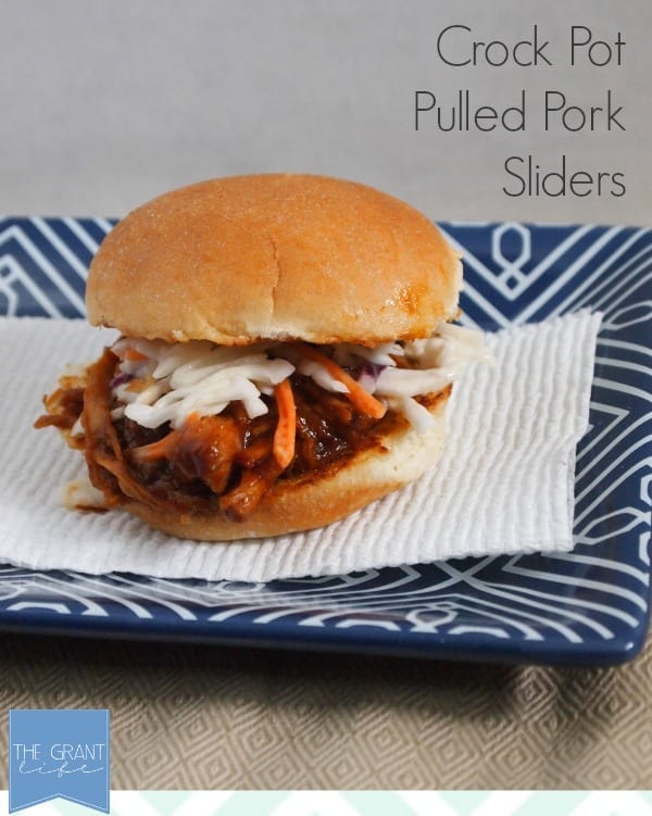 are two parts to these crockpot pulled pork sliders – the crockpot ...
