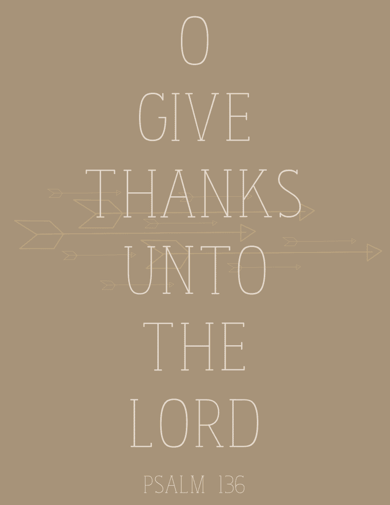 Free Give Thanks Printable via thegrantlife
