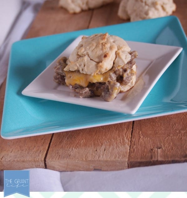 Sausage Gravy Breakfast Sandwich via thegrantlife.com