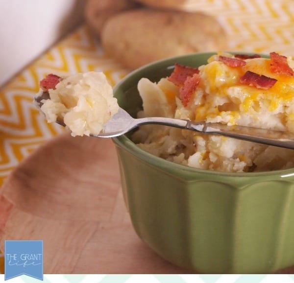 So easy - crockpot mashed potatoes!