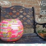 Washi tape pumpkin via thegrantlife.com