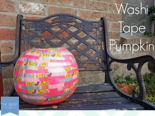Easy Homemade Craft: Washi Tape Pumpkin