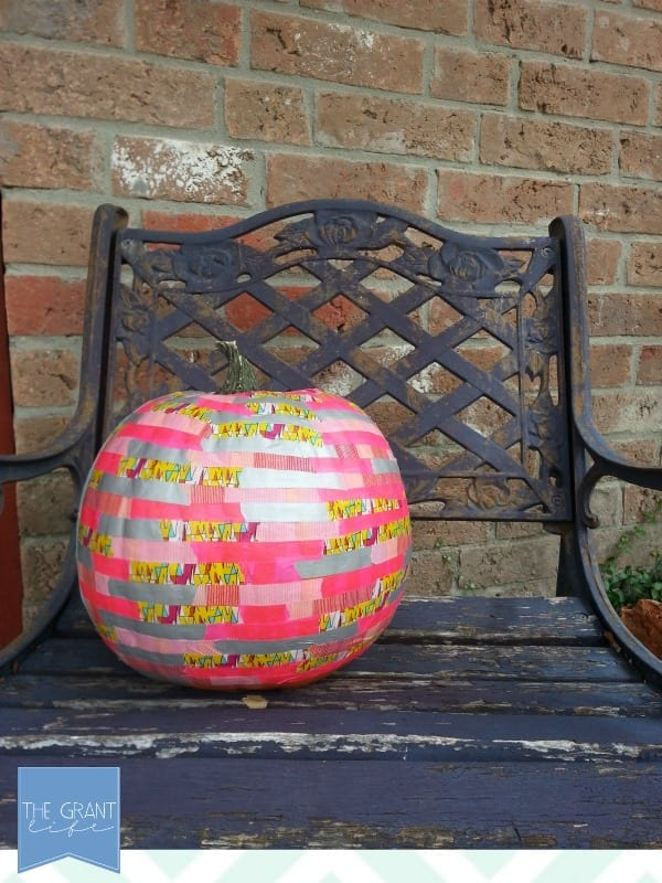 pumpkin covered in washi tape