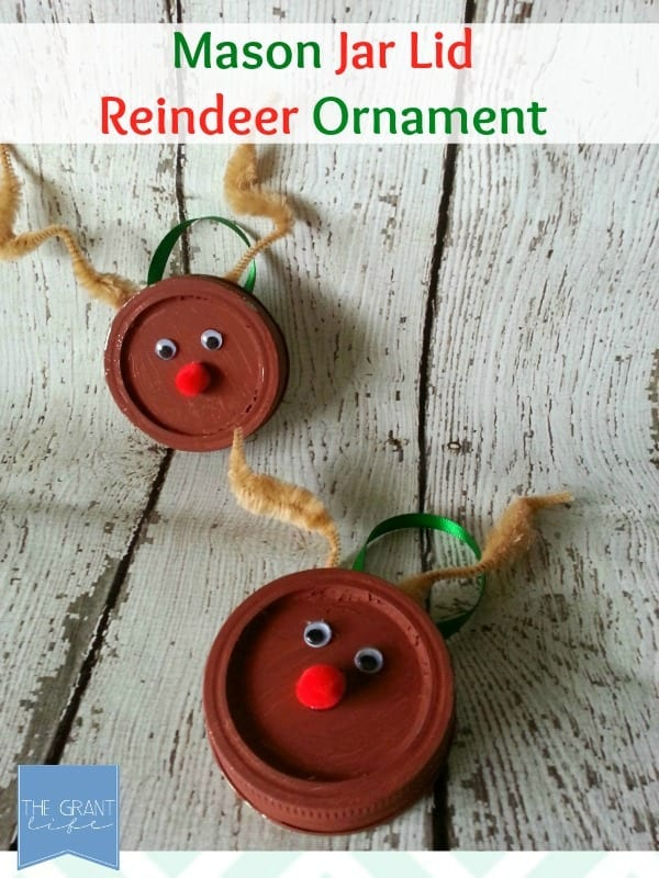 Easy Homemade Craft: Mason Jar Lid Reindeer Ornament