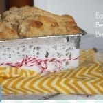 Easy beer bread.  Perfect for Thanskgiving or Christmas!  via thegrantlife.com