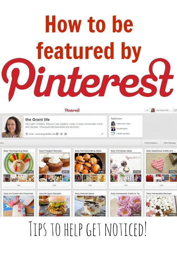 Blogging Tips: How to get Featured by Pinterest