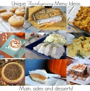 Unique thanksgiving menu ideas - try a new recipe this year!