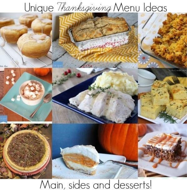 Unique Thanksgiving Menu Ideas