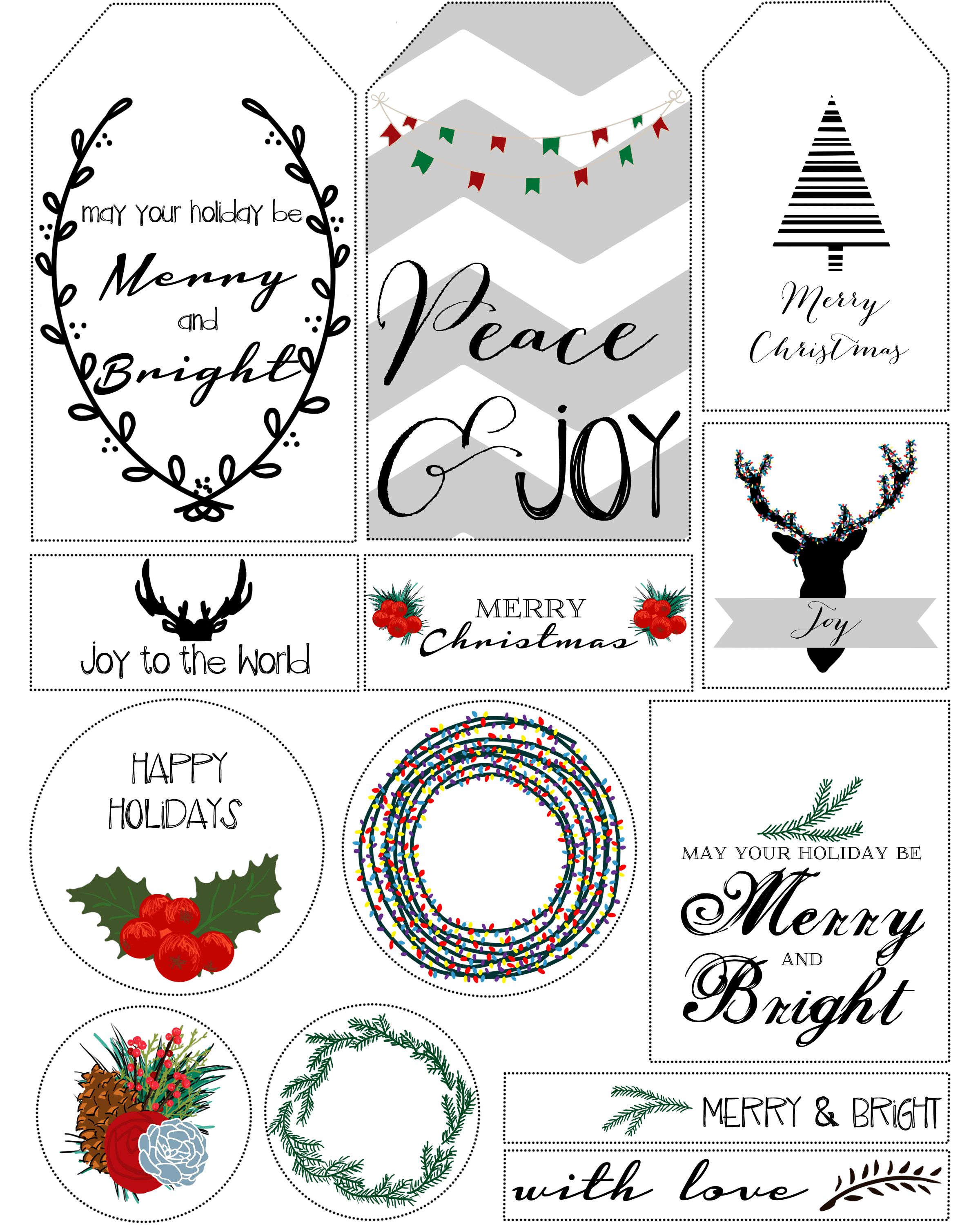 Nerdy image intended for christmas gift tags free printable