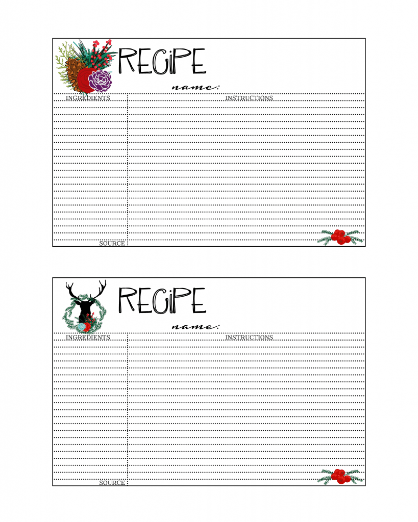 Christmas Recipe Cards 1