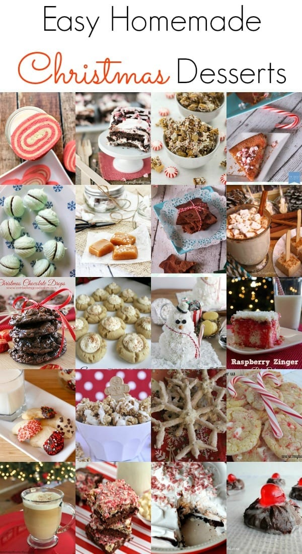 Easy Homemade Christmas Desserts