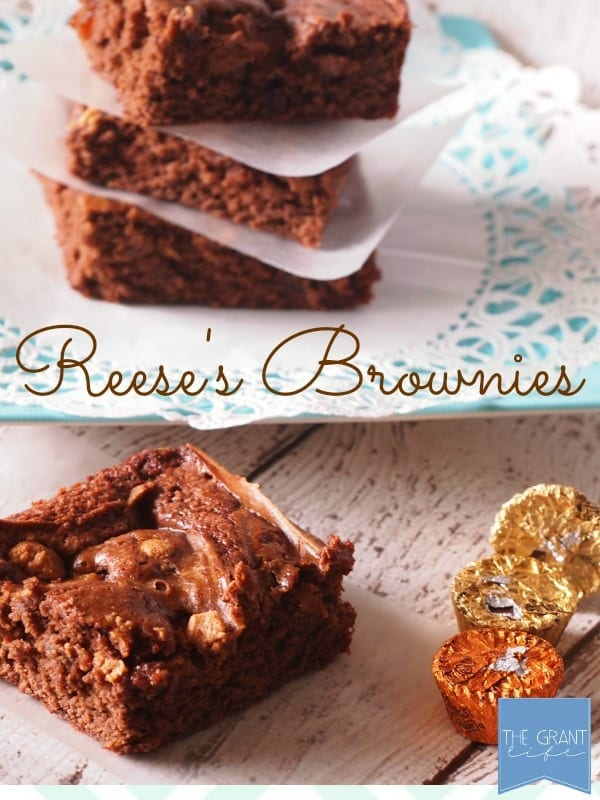 Reese's brownies! These look so easy to make!