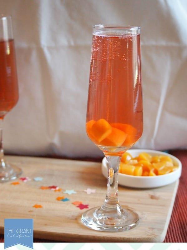 sparkling peach drink