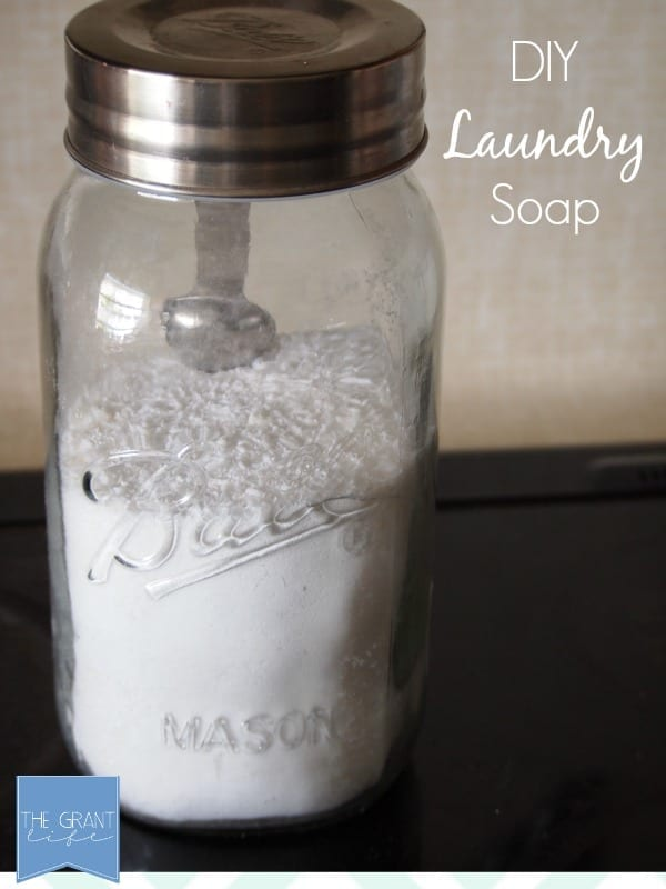Diy Laundry Soap - 3 ingredients and no harsh chemicals.