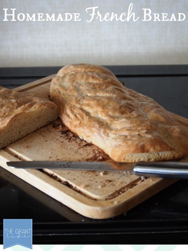 Homemade French bread.  You won't believe how easy it is to make this delicious bread!