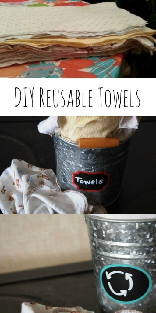 How to make reusable towels using receiving blankets. Super easy!