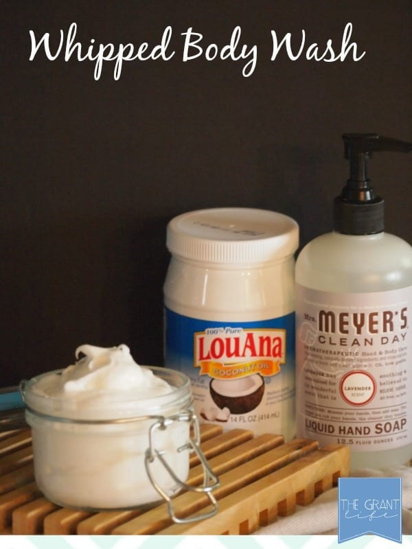 Natural whipped body wash.  3 ingredients, so easy!