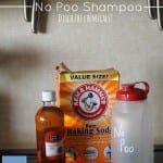 No Poo Shampoo.  Ditch the chemicals!  (And have your hair feel great too!)