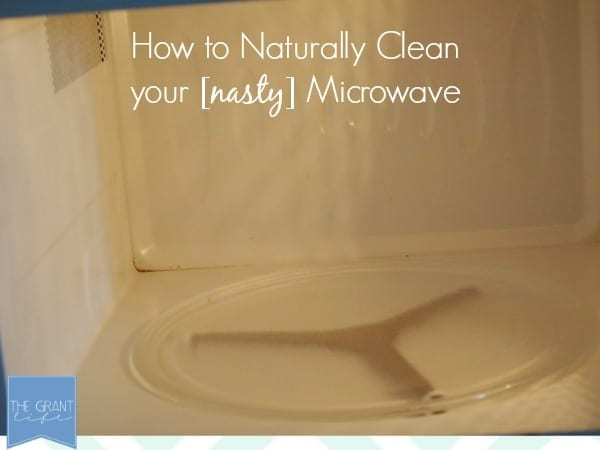 how to naturally clean a nasty microwave