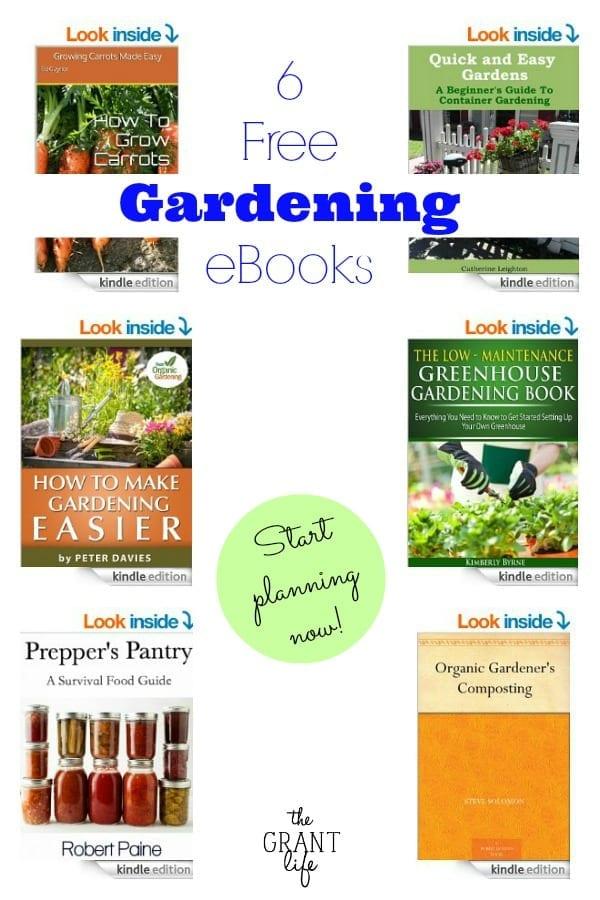 6 Free Gardening eBooks