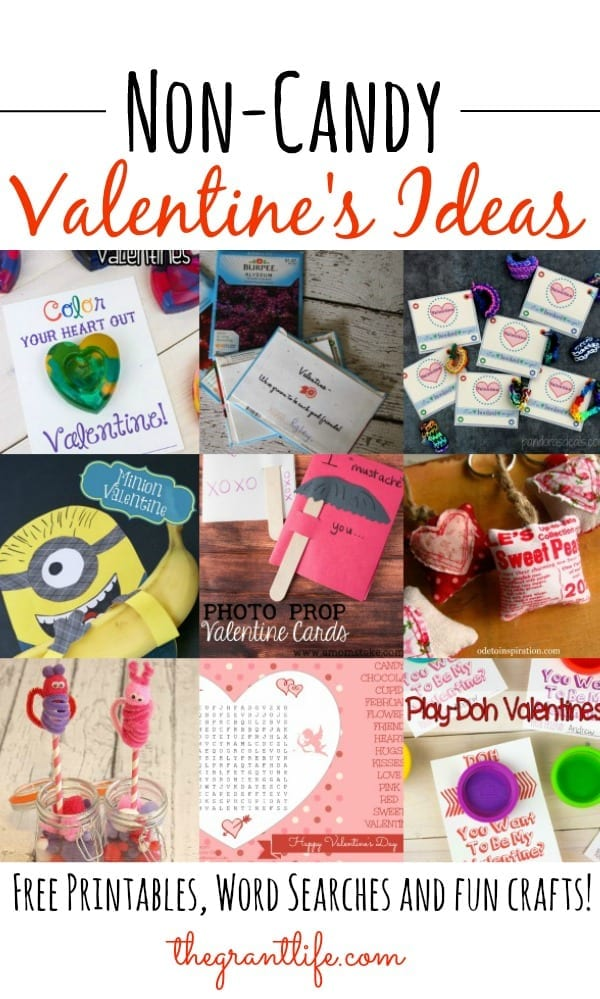 Easy Non Candy Valentine's Ideas for kids!
