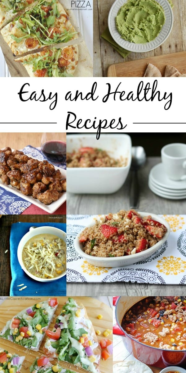Easy and Healthy Recipes.  A list of easy and delicious recipes that are good for you!  Via thegrantlife.com