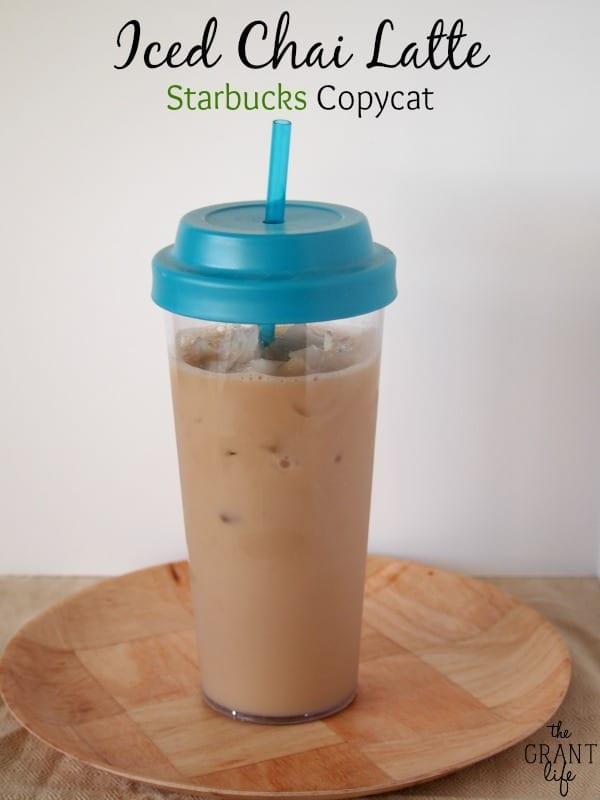 Iced Chai Latte Starbucks Copycat Mom Makes Dinner