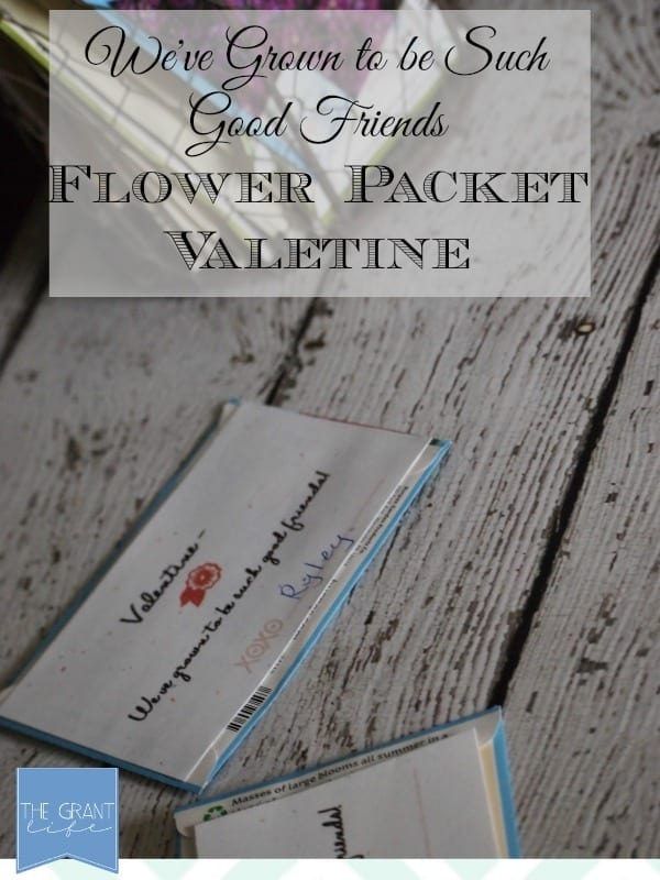 Flower Packet Valentine