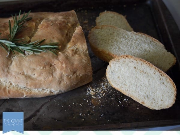homemade rosemary and sea salt french bread