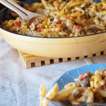 Chipotle Pasta Skillet - one dish dinner!
