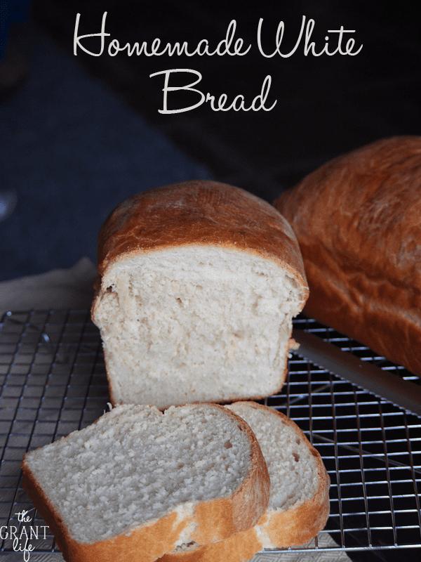 Easy Homemade White Bread.
