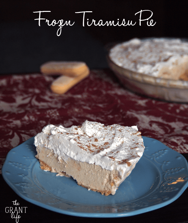 Frozen Tiramisu Pie.