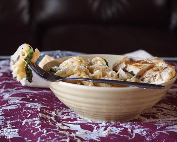 Leek and aspargus pasta