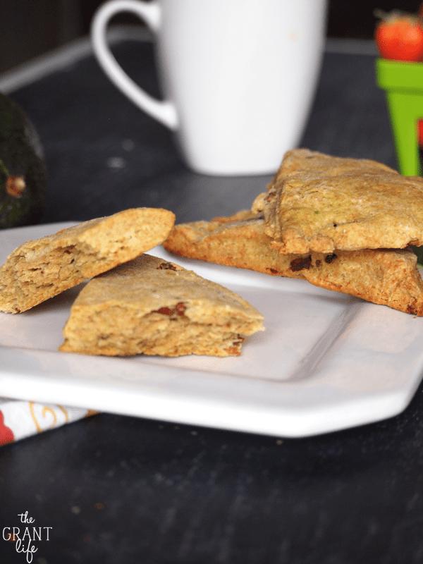 avocado bacon scones
