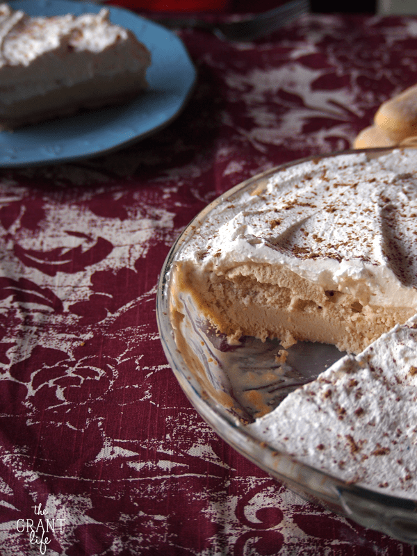 frozen tiramisu pie!