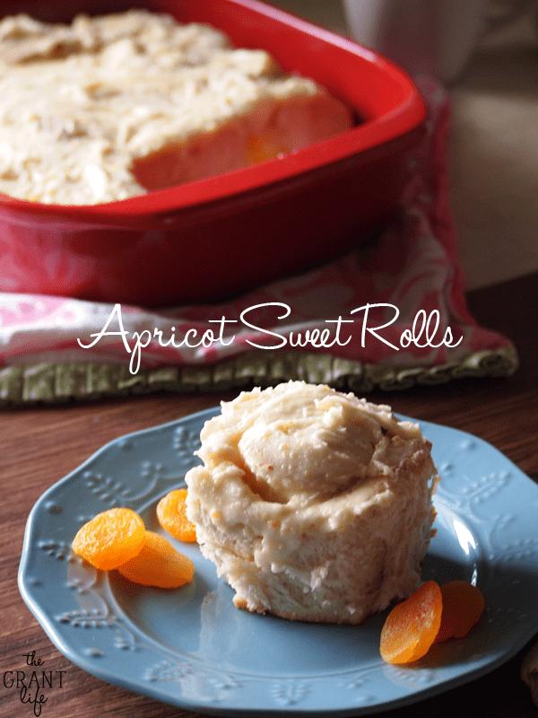 Apricot Sweet Rolls via thegrantlife.com