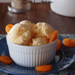 Apricots and cream ice cream