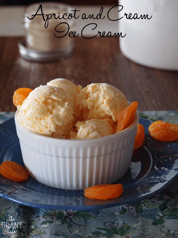 Apricots and cream ice cream