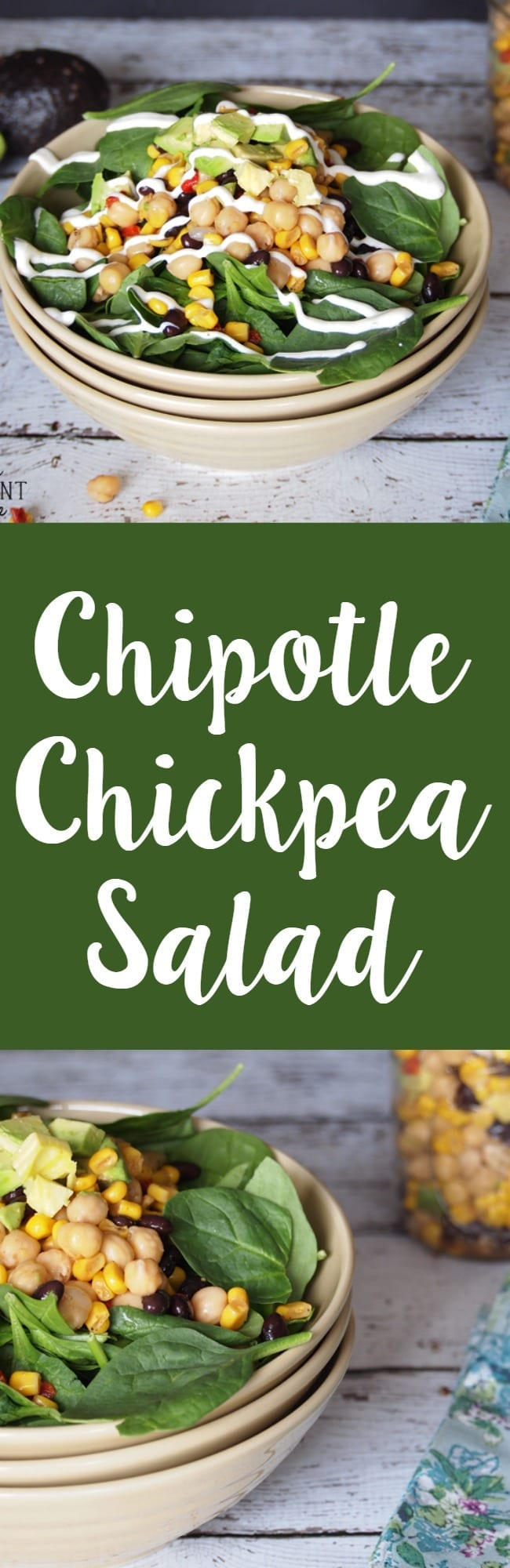 Chipotle chickpea salad