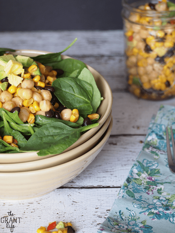 Easy chipotle chickpea salad